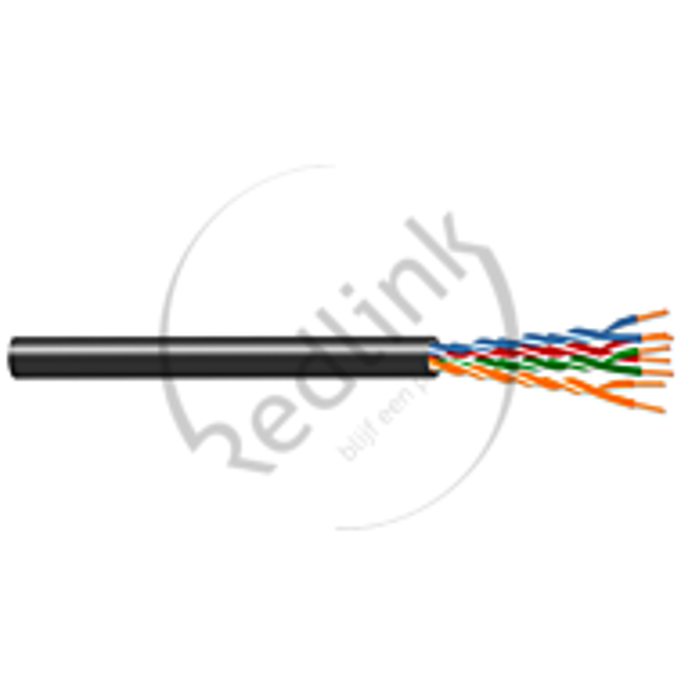 Redlink, Datakabel Cat6/E, U/UTP 250Mhz, PE zwart, Fca, OD= 6.8mm (AWG23)