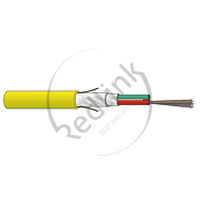 Datwyler, FO kabel, OS2, 24v(2x12)Indoor, SZGGFR/J-B(ZN)BH, G.652.D BLO, B2ca, Geel