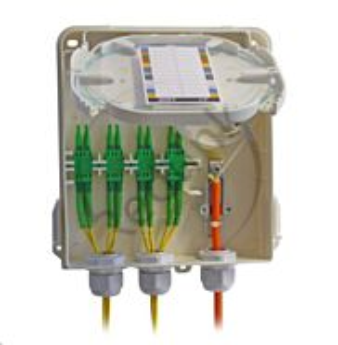 Redlink, FO Wandbox IP54 kunststof, slot, LCD-SC simplex, B210xH175xD45mm (leeg)