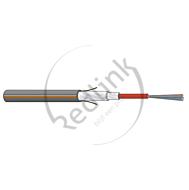 Datwyler, FO kabel, OS2, 12v(1x12)Outdoor, A-DQ(ZN)B2Y, PE ZGGT HP, Fca, Zwart Oranje