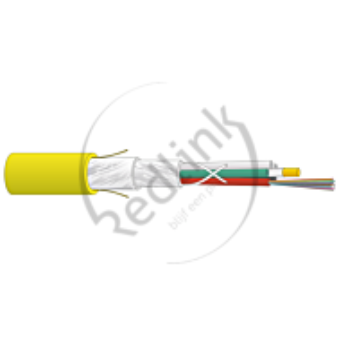 Datwyler, FO kabel, OS2, 96v(8x12)Indoor, SZGGFR/J-B(ZN)BH, G.652.D BLO, Cca, Geel