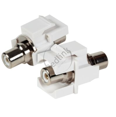Redlink, RCA Snap-In Adapter, wit, tulp F/F, wit, audio