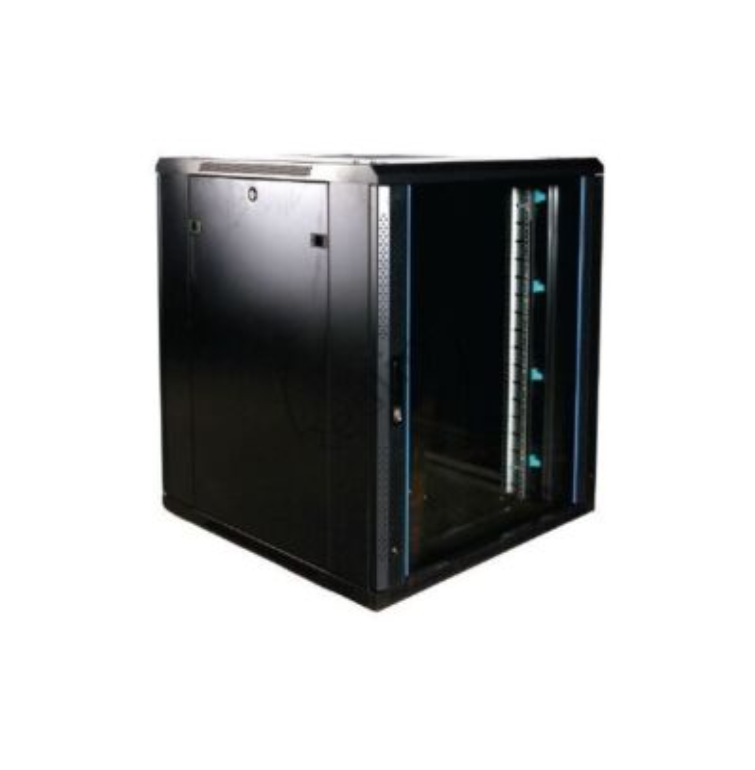 BasicLine, Netwerkkast 18HE, 19inch, B800xD800xH1000mm, Glasdeur, RAL9005