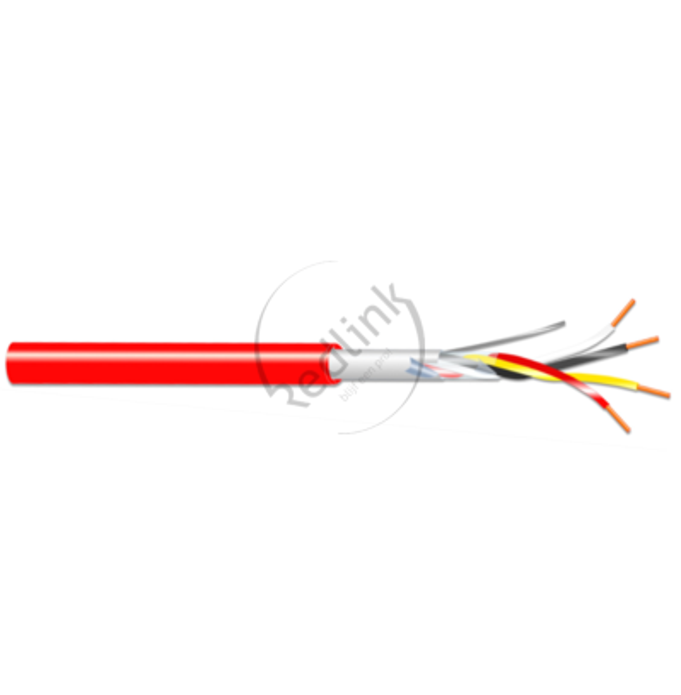 Brandmeldkabel, H(st)H 1x4x0.8mm, rood, B2ca-s1.d0.a1