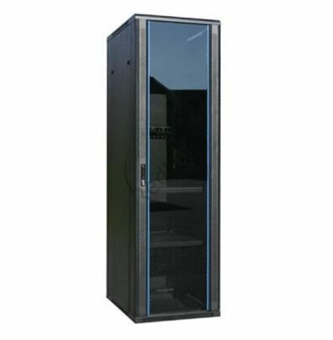 BasicLine, Netwerkkast 18HE, 19inch, B600xD800xH1000mm, Glasdeur, RAL9005