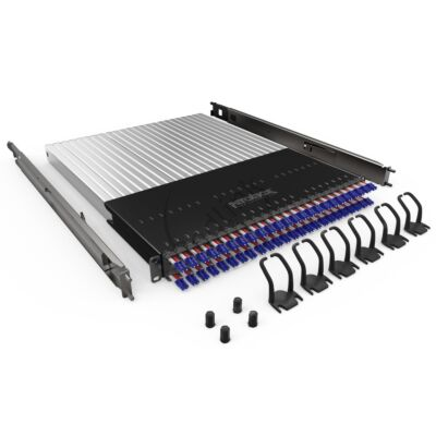 PATCHBOX Plus+ Frame, incl.24 cassettes, LC-LC, OS2 Geel, 1.7m