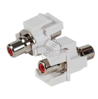 Redlink, RCA Snap-In Adapter, wit, tulp F/F, rood, audio