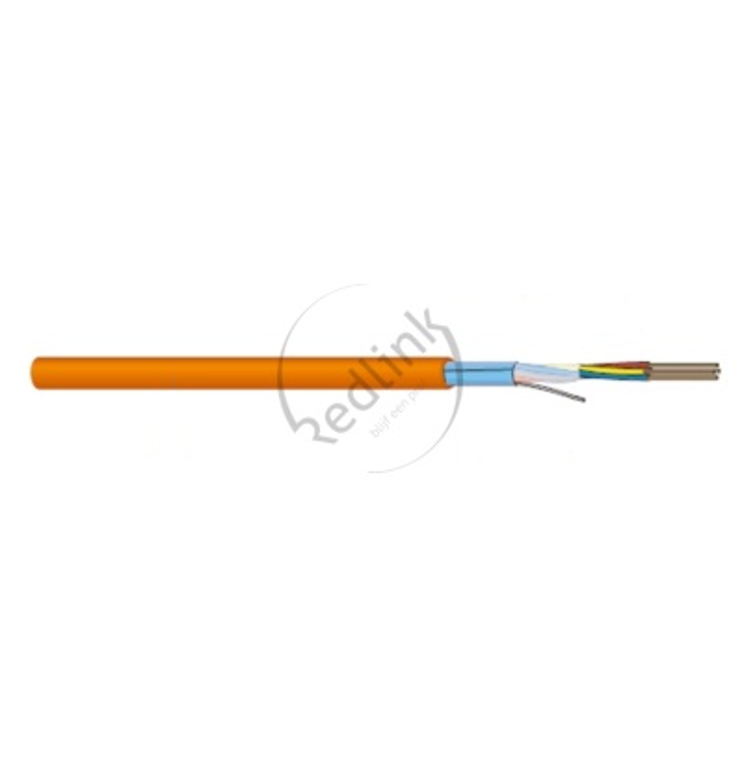 Datwyler, Brandmeldkabel, Keram JE-H(St)H Bd FE180 E30-E90 4x2x0.8, oranje