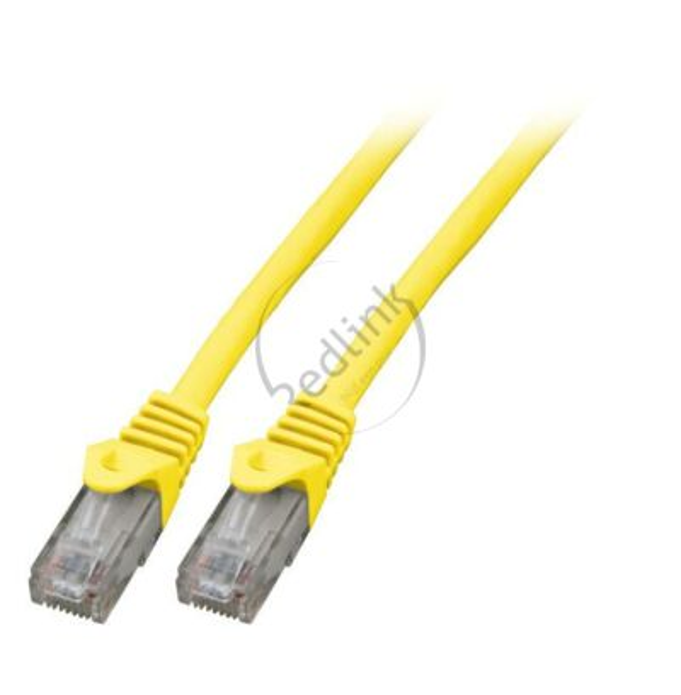 Redlink, Patchkabel U/UTP, Cat6, LSOH, CCA, geel, 15m