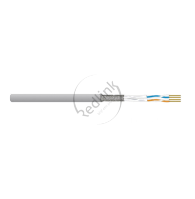 Datwyler, Flexkabel Cat7/F, S/FTP 1200Mhz, 2P Multimedia, LSOH grijs (AWG26)