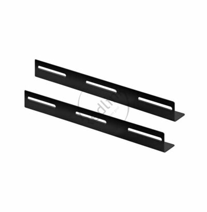 BasicLine, L-Profiel, Horizontaal, 19 inch, 2 stuks, geschikt voor 600mm diepe kasten, RAL9005