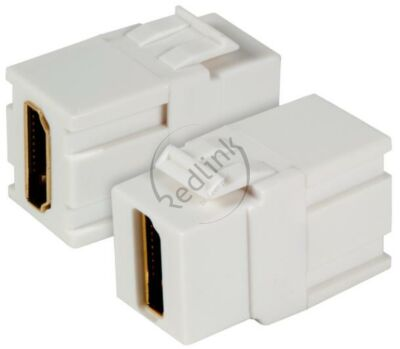 Redlink, HDMI Snap-In Keystone adapter, wit, type A-type A tbv Paneel