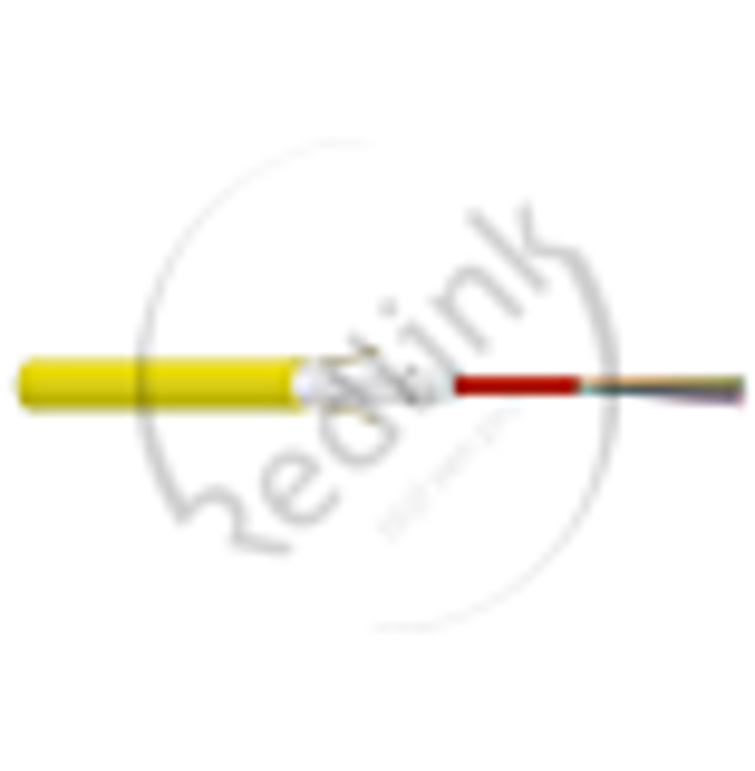Datwyler, FO kabel, OS2, 4v(1x4)Indoor, ZGGFR/J-B(ZN)BH, G.652.D BLO, Cca, Geel