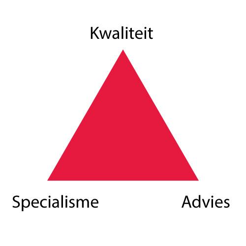 Driehoek van de kernwaarden Redlink